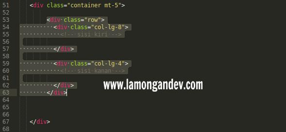 row-dalamcontainer-tutorial-penggunaan-bootstrap-untuk-membuat-website-lamongandev.com