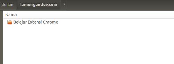 Buat-folder-Belajar-Membuat-Extensi-Chrome-lamongandev.com